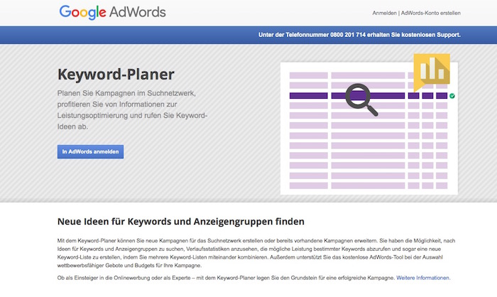 SEO Tools - Google AdWords Keyword Planner