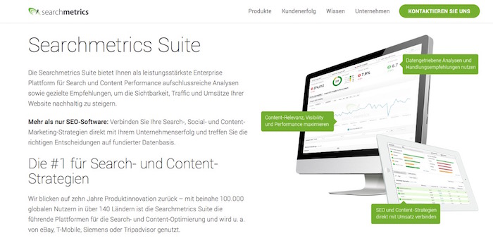 SEO Tools - Searchmetrics Suite